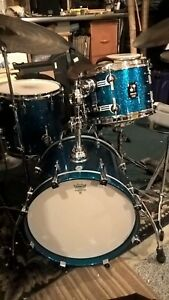 Sonor ProLite Maple Drums Bop Kit w/ Blue Sparkle Finish & Tom Arm! 18