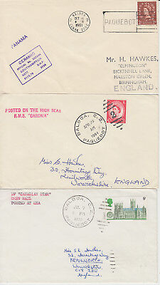 1961-70 lot of 5 x Balboa Paquebot covers inc Ceramic Caronia