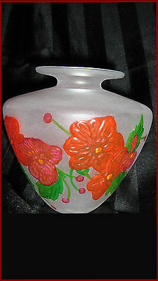 "beautiful ""Rag & Daime""  (ITALY ) handpainted glass vase ""quasar"""