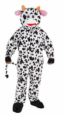 Adult Cow Mascot Costume Full Body Animal Suit Size - Full Body Animal Costume