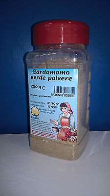 CARDAMOMO VERDE IN POLVERE DISPENSER Gr.200