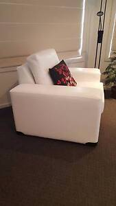 3 Piece White Lounge Suite + White footrest Mornington Clarence Area Preview