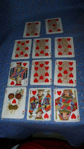 Rare Anheuser Busch Spanish American War 1899 Playing Cards Hearts Adm Dewey