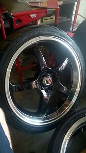 The Racing Battle  multi studs wheels 19 inch with good tyres Noble Park Greater Dandenong Preview
