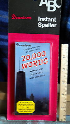 DENNISON  INSTANT SPELLER Compact Series  DictionaRY 20,000 WORDS