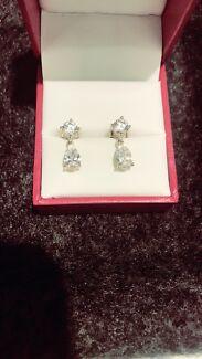 HUSH 2.5carat Diamond Earrings in 9ct Gold - NEED THEM GONE TONIGHT
