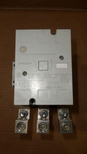 GE General Electric CK75CE300 Contactor 125HP 156 Amp 600v Volt 110-127v AC Coil