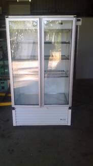 Two glass door fridge