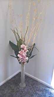 Various artificial flowers in vases - PRICES AS INDICATED
