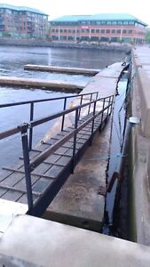 Floating dock sections