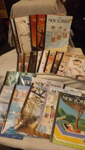 Total of 23 Back Issues New Yorker Magazine - 2014