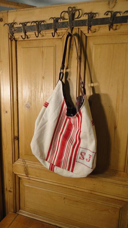 Antique European Grain Sack,Tote Bag, Book Bag,Ipad Bag,Purse.#6485