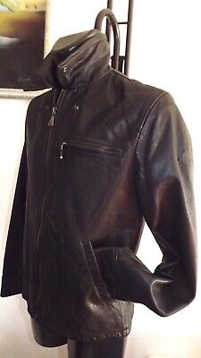 Roy ROGER'S Jacket Nappa Leather Black Nappa Leather Size 50 580,00 Tag sh2096