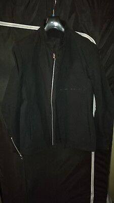 INDIVIDUAL SENTIMENTS BNWT Boiled Cotton Fireman Zip Jacket Grey Size 2 EU 50 52
