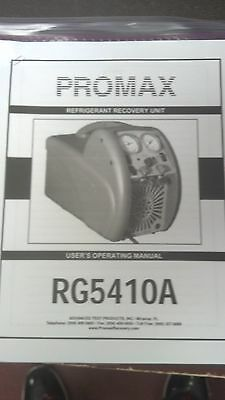 Promax Rg5410a Refrigerant Recovery Printed Users Operating Manual