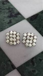 Sparkly 1960s Vintage Rhinestone Cluster Pierced Earrings New Lambton Newcastle Area Preview