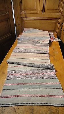 Rag Rug Vintage European Hand-Woven Carpet Rug  4.5Yds x 19''  #5749
