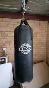 Boxing bag with 2 sets of gloves and extras. Fawkner Moreland Area Preview