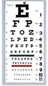 NEW Snellen WALL Eye Exam Vision Test Chart 22