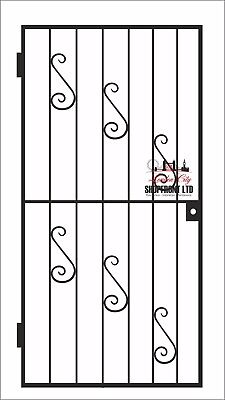 HEAVY DUTY GATE /WROUGHT IRON GATE / GATE. METAL GARDEN SIDE GATE / GARDEN GATE