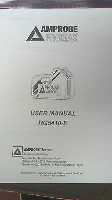 Promax Rg5410e Refrigerant Recovery Printed Users Operating Manual