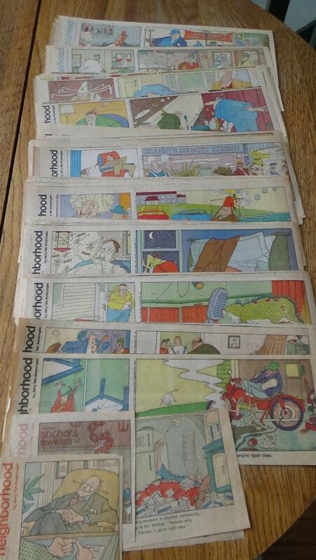 The Neighborhood by Jerry Van Amerongen clipped newspaper strips [1984-1987]