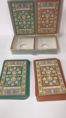 VINTAGE CONGRESS SET 2 Decks Playing Cards Boxed EXTRA LARGE #'s. (Extra Large Playing Cards)