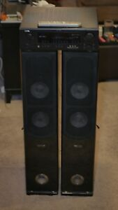 Tower speakers and receiver