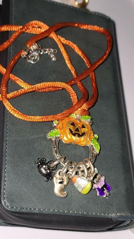 AJMC Halloween Pumpkin Spider Ghost Candy Corn Vampire Necklace
