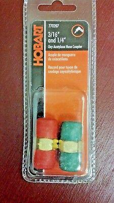 Welding Hose Connectors Hobart 770207 316 14 Oxygen-acetylene