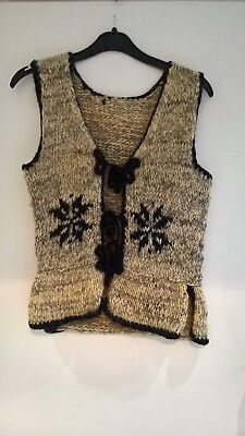 Vintage 70s  wool 2 piece ladies skirt waistcoat  suit retro hippy