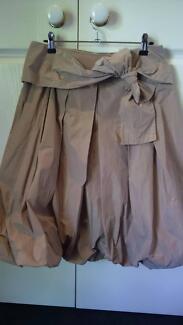 Sandra Soulos Tafetta balloon skirt beige size 10