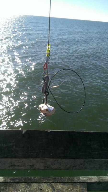 3X SURF//PIER FISHING LEADER 400LB MONO W// 20//0 BLACK CIRCLE HOOK CASTABLE