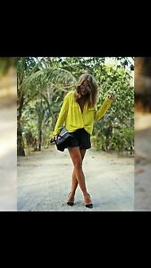 Zara Yellow Viscose Blouse 91