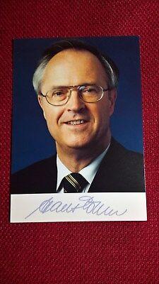 Original-Autogramm von Hans Eichel, Farbbild-Karte, Postkartengröße