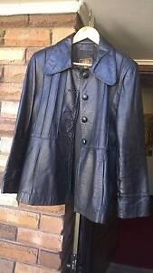 ESPAGNA Women Genuine Leather Black Jacket - Size 38 - B. NEW!! Ingleburn Campbelltown Area Preview
