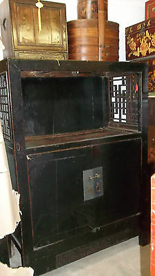 Antique Chinese Black Timber Cabinet - needs some TLC - nsw 2283