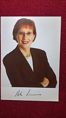 Autogramm von Heide Simonis (Politik), Farbbild, Postkartengröße