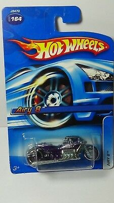 2006 Hot Wheels #164 Airy 8 Purple Die Cast Motorcycle Chopper Vehicle New Toy