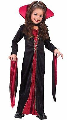 Fun World Viktorianisch Vampirin Kinder Mädchen Gothik Halloween Kostüm - Viktorianische Vampirin Kostüm Kind
