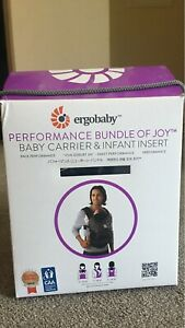 Ergobaby performance baby carrier with infant insert
