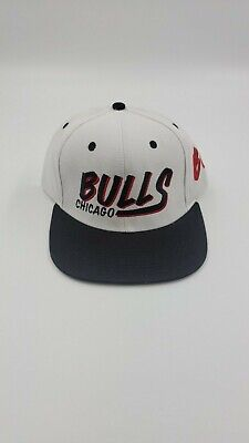 CHICAGO BULLS NBA VINTAGE STYLE FLAT BILL SNAPBACK RETRO 2-TONE CAP HAT NEW!