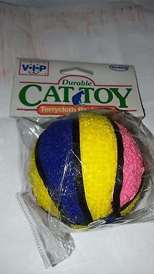 """VOTOYS 2.5"""" HARD TERRY CLOTH BASKETBALL COLORS VARY DOG TOY. FREE SHIP TO USA"""