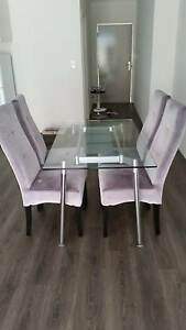 Dining table & chairs and Sofa with 2 ottomans Nollamara Stirling Area Preview