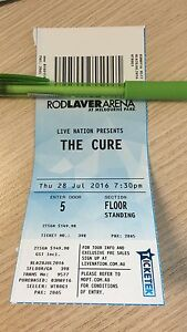 Selling 1 x GA ticket to The Cure tonight Richmond Yarra Area Preview