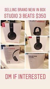 Beats by Dre headphones studio 3