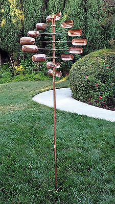 Stanwood Wind Sculpture: Kinetic Copper Spinner - ...