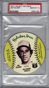 1977 Jim Palmer HOF Holiday Inn Discs PSA 10 Pop 10