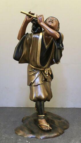 Magnificent Japanese Meiji Bronze Miyao Okimono - Monkey Trainer