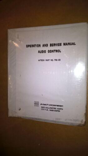 Avtech 793-20 Audio Control Operation service Overhaul manual